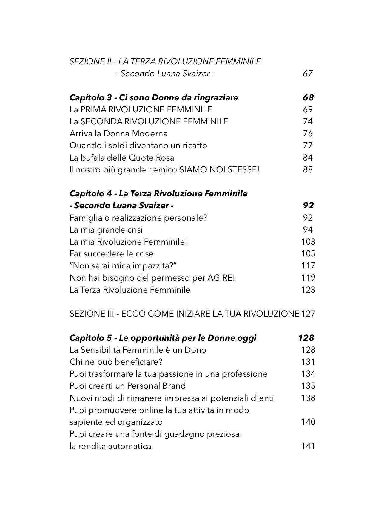 INDICE LIBRO LA TERZA RIVOLUZIONE FEMMINILE 5